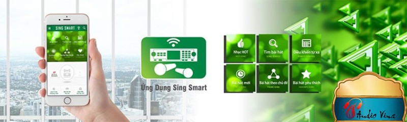 Ứng dụng SingSmarttrên đầu karaoke hi-end Paramax