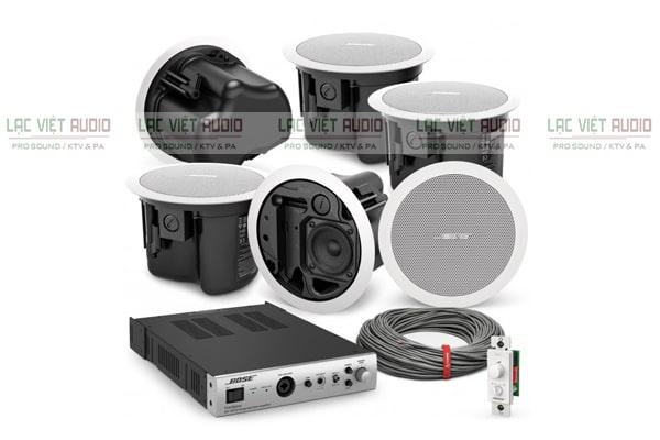 Combo loa âm trần được ứng dụng phổ biến cho hệ thống âm thanh thông báo