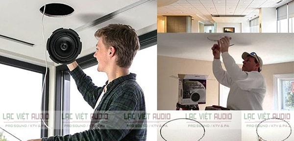 Áp dụng cách lắp đặt loa âm trần đơn giản và hiệu quả cho mọi không gian